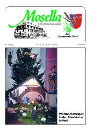 Weihnachtskrippe in der Pfarrkirche in Perl