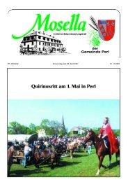 Quirinusritt am 1. Mai in Perl