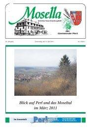 Blick auf Perl und das Moseltal im März 2011