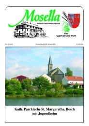 Kath. Parrkirche St. Margaretha, Besch mit Jugendheim - Perl