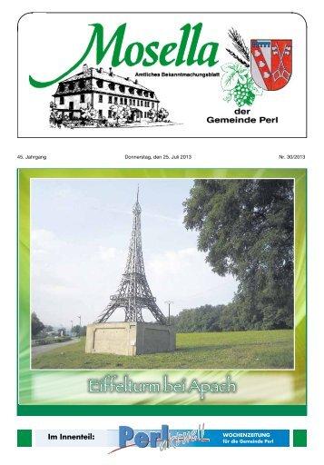 Eiffelturm bei Apach - Perl