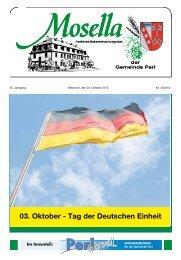 03. Oktober - Tag der Deutschen Einheit - Perl