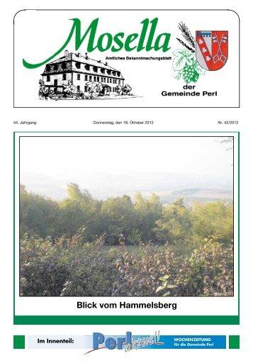 Blick vom Hammelsberg - Perl