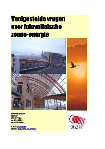 Veelgestelde vragen over fotovoltaische zonne-energie - Ecn
