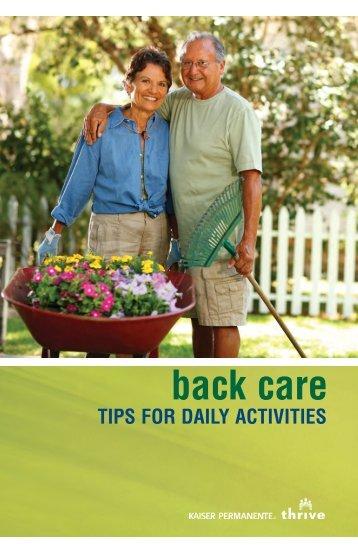 Back Care Tips For Daily Activities - permanente.net