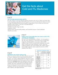 G Get the facts about Cold and Flu Medicines