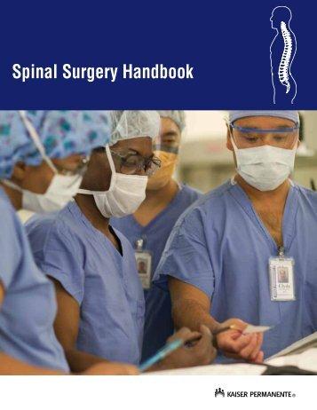 Spinal Surgery Handbook - permanente.net