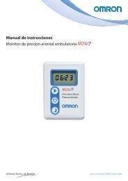 Manual de instrucciones Monitor de presión arterial ambulatoria ...