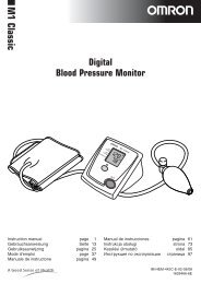 M1 Ckassic- Instruction Manual - Omron Healthcare
