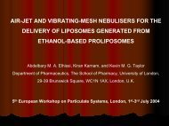 AIR-JET AND VIBRATING-MESH NEBULISERS FOR THE ...