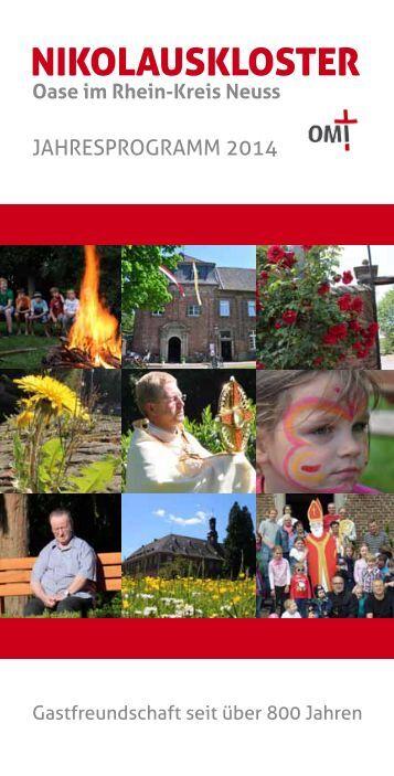 Nikolauskloster - Jahresprogramm 2014