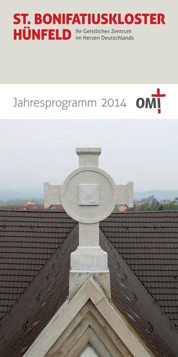 St. Bonifatiuskloster Hünfeld - Jahresprogramm 2014