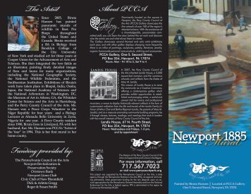 Newport 1885 - Perry County Council of the Arts