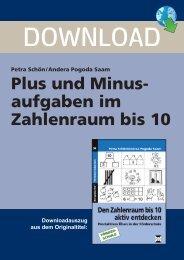 Plus und Minus aufgaben im Zahlenraum bis 10 - Persen Verlag