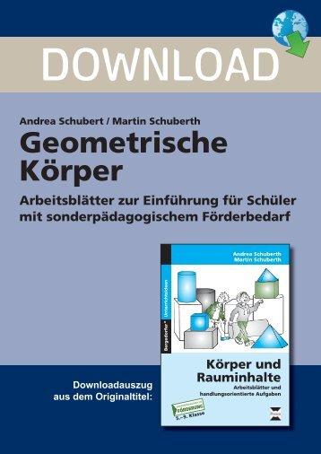 Geometrische Körper - Persen Verlag