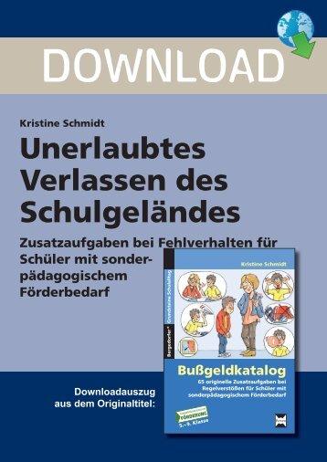 Unerlaubtes Verlassen des Schulgeländes - Persen Verlag