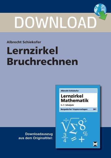 Lernzirkel Bruchrechnen - Persen Verlag