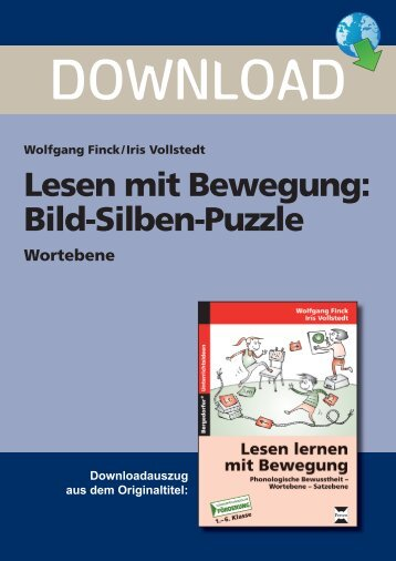 Lesen mit Bewegung: Bild-Silben-Puzzle - Persen Verlag