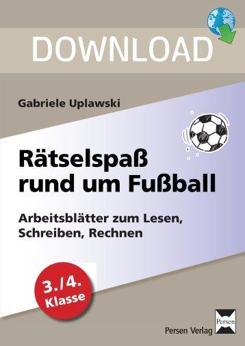 Gabriele Uplawski: Rätselspaß rund um Fussball - FORREFS