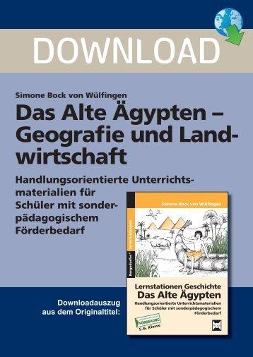 Das Alte Ägypten – Geografie und Land- wirtschaft - Persen Verlag