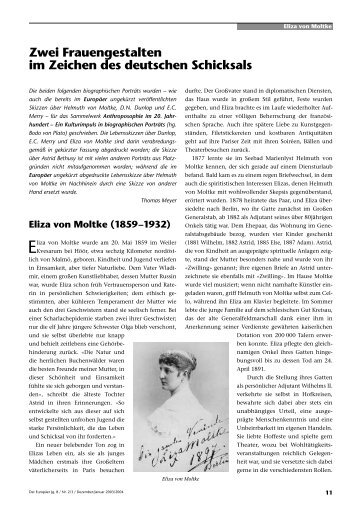 Eliza von Moltke - Perseus Verlag