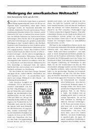 Niedergang der amerikanischen Weltmacht? - Perseus Verlag