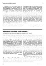 Christus – Realität oder «Titel»?