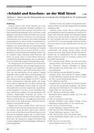 Schädel und Knochen» an der Wall Street - Perseus Verlag