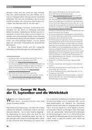 Apropos: George W. Bush, der 11. September und die Wirklichkeit