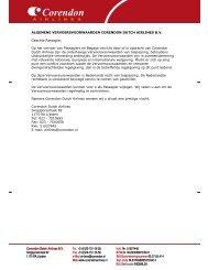 Voorwaarden Corendon - de Persgroep Advertising