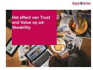 Effect van Trust and Value op merkimago - de Persgroep Advertising