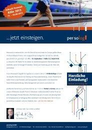 ..jetzt einsteigen - Persolog GmbH