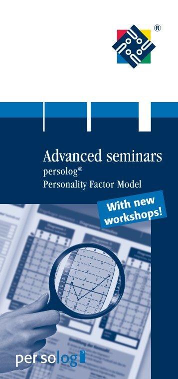 Advanced seminars - Persolog GmbH