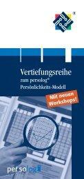 Flyer zur Vertiefungsreihe - Persolog GmbH