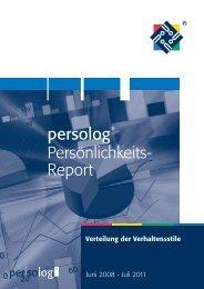 Der persolog ® Persönlichkeits-Report als PDF - Persolog GmbH