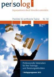 Organisationen durch Menschen entwickeln. - Persolog GmbH