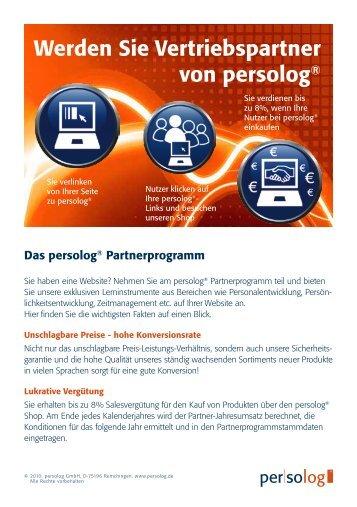 finden Sie die wichtigsten Fakten auf einen Blick - Persolog GmbH