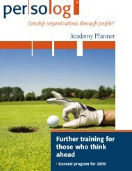 Academy Planner 2009 - Persolog GmbH