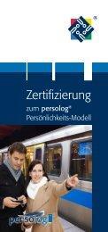 Zertifizierung - Persolog GmbH