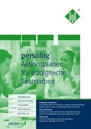 Download: Aktionsplaner für erfolgreiche ... - Persolog GmbH
