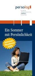 Ein Sommer mit Persönlichkeit - Persolog GmbH