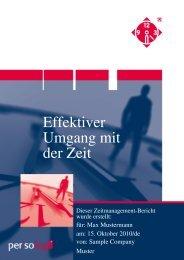 Effektiver Umgang mit der Zeit - Persolog GmbH