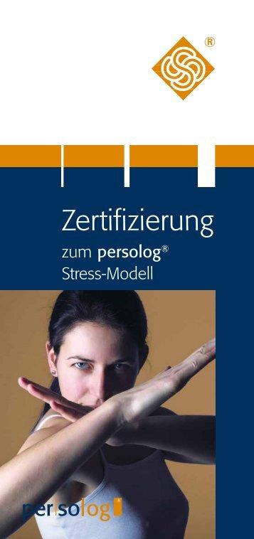 Flyer zur Zertifizierung - Persolog GmbH