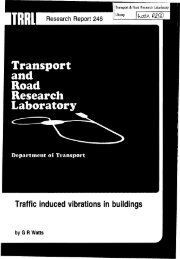 Traffic Induced Vibrations in Buildings, G. R. Watts, Department for ...