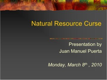 Natural Resource Curse - Personal pages of the CEU
