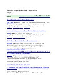 Citation List Based on Google Scholar - Personal pages of the CEU ...