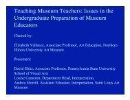 Issues in the Undergraduate Preparation of Museum Educators