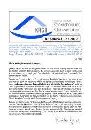 KRGB Rundbrief 2012 / 2
