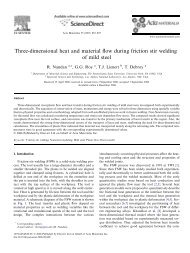 Three-dimensional heat and material flow during friction stir welding ...