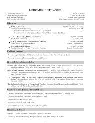 LUBOMIR PETRASEK - Penn State Personal Web Server - Penn ...